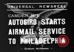 Image of autogiro Camden New Jersey USA, 1939, second 7 stock footage video 65675047783