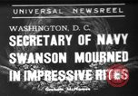 Image of funeral services Washington DC USA, 1939, second 1 stock footage video 65675047784