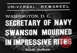 Image of funeral services Washington DC USA, 1939, second 7 stock footage video 65675047784