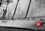 Image of South American naval training vessel San Juan Puerto Rico, 1938, second 10 stock footage video 65675047786