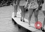 Image of bathing beauty parade Coney Island New York USA, 1938, second 12 stock footage video 65675047790