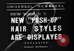 Image of display of hairstyles New York United States USA, 1938, second 2 stock footage video 65675047798