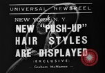 Image of display of hairstyles New York United States USA, 1938, second 3 stock footage video 65675047798