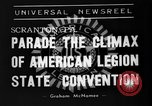 Image of American Legion State Convention Scranton Pennsylvania USA, 1938, second 2 stock footage video 65675047800