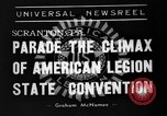 Image of American Legion State Convention Scranton Pennsylvania USA, 1938, second 8 stock footage video 65675047800