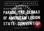 Image of American Legion State Convention Scranton Pennsylvania USA, 1938, second 9 stock footage video 65675047800