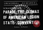 Image of American Legion State Convention Scranton Pennsylvania USA, 1938, second 10 stock footage video 65675047800