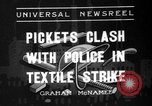 Image of picketing during a textile strike United States USA, 1936, second 1 stock footage video 65675047807
