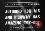 Image of autogyro lands in town United States USA, 1936, second 3 stock footage video 65675047810