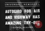 Image of autogyro lands in town United States USA, 1936, second 7 stock footage video 65675047810