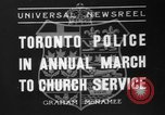 Image of Toronto police Toronto Ontario Canada, 1936, second 1 stock footage video 65675047813