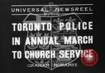 Image of Toronto police Toronto Ontario Canada, 1936, second 3 stock footage video 65675047813