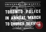 Image of Toronto police Toronto Ontario Canada, 1936, second 6 stock footage video 65675047813