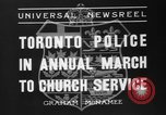 Image of Toronto police Toronto Ontario Canada, 1936, second 7 stock footage video 65675047813