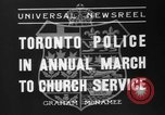 Image of Toronto police Toronto Ontario Canada, 1936, second 9 stock footage video 65675047813