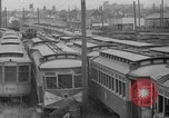 Image of obsolete trolley cars Oakland California USA, 1935, second 2 stock footage video 65675047821