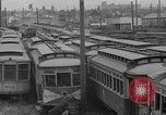 Image of obsolete trolley cars Oakland California USA, 1935, second 3 stock footage video 65675047821