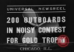 Image of motorboat race Chicago Illinois USA, 1935, second 2 stock footage video 65675047823
