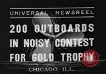 Image of motorboat race Chicago Illinois USA, 1935, second 8 stock footage video 65675047823