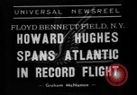 Image of aviator Howard Hughes New York United States USA, 1938, second 2 stock footage video 65675047824