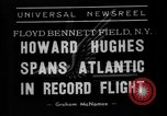 Image of aviator Howard Hughes New York United States USA, 1938, second 7 stock footage video 65675047824