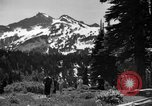 Image of glissading Washington Mount Rainier National Park USA, 1938, second 6 stock footage video 65675047826