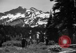 Image of glissading Washington Mount Rainier National Park USA, 1938, second 7 stock footage video 65675047826