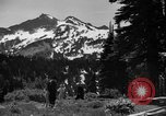 Image of glissading Washington Mount Rainier National Park USA, 1938, second 9 stock footage video 65675047826