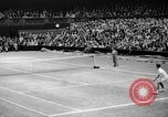 Image of Tennis champion Donald Budge defeats Bunny Austin at Wimbleton Wimbledon London England, 1938, second 8 stock footage video 65675047828