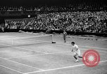 Image of Tennis champion Donald Budge defeats Bunny Austin at Wimbleton Wimbledon London England, 1938, second 9 stock footage video 65675047828
