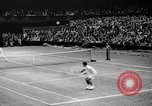 Image of Tennis champion Donald Budge defeats Bunny Austin at Wimbleton Wimbledon London England, 1938, second 10 stock footage video 65675047828