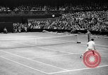 Image of Tennis champion Donald Budge defeats Bunny Austin at Wimbleton Wimbledon London England, 1938, second 11 stock footage video 65675047828