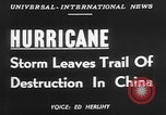 Image of hurricane causes damages Cienfuegos Cuba, 1952, second 5 stock footage video 65675047830
