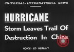 Image of hurricane causes damages Cienfuegos Cuba, 1952, second 6 stock footage video 65675047830