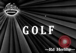 Image of golfer Lloyd Eugene Mangrum Cleveland Ohio USA, 1946, second 1 stock footage video 65675047839