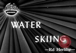 Image of water skiing Cypress Gardens Florida USA, 1946, second 2 stock footage video 65675047840