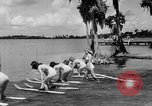 Image of water skiing Cypress Gardens Florida USA, 1946, second 7 stock footage video 65675047840