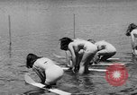 Image of water skiing Cypress Gardens Florida USA, 1946, second 8 stock footage video 65675047840