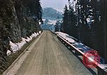 Image of mountain road Berchtesgaden Germany, 1940, second 2 stock footage video 65675047944