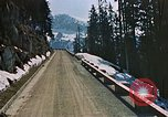 Image of mountain road Berchtesgaden Germany, 1940, second 7 stock footage video 65675047944