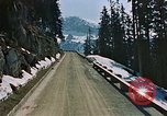Image of mountain road Berchtesgaden Germany, 1940, second 8 stock footage video 65675047944