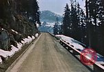 Image of mountain road Berchtesgaden Germany, 1940, second 9 stock footage video 65675047944