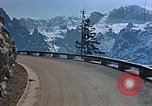 Image of mountain road Berchtesgaden Germany, 1940, second 11 stock footage video 65675047944