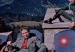 Image of Nazi military officers on Berghof terrace Germany, 1940, second 8 stock footage video 65675048085