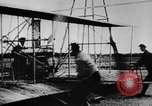 Image of First public demonstration of Wright Brothers airplane  Le Mans France, 1908, second 4 stock footage video 65675048142
