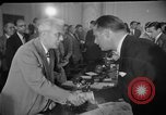 Image of Howard Hughes arrives in Douglas B-23 Dragon aircraft Washington DC USA, 1947, second 3 stock footage video 65675048172