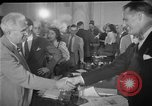 Image of Howard Hughes arrives in Douglas B-23 Dragon aircraft Washington DC USA, 1947, second 8 stock footage video 65675048172