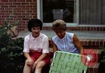 Image of backyard barbecue Goldsboro North Carolina USA, 1966, second 10 stock footage video 65675048198