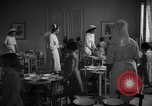 Image of communal kitchen Barcelona Spain, 1942, second 10 stock footage video 65675048274