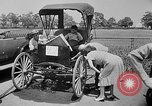 Image of antique automobile pageant Mineola New York USA, 1946, second 5 stock footage video 65675048282